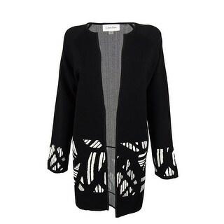 Calvin Klein Women's Open Front Knit Jacket
