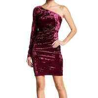 Eliza J Velvet One-Shoulder Women's Sheath Dress