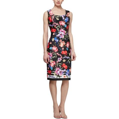 SLNY Womens Wear to Work Dress Floral Print Work Wear