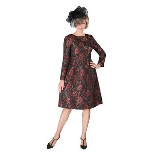 Link to Giovanna Signature 1pc Lux Brocade A-line Dress w/ Piping Similar Items in Dresses