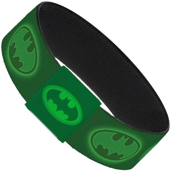 Glowing Bat Signals Greens Elastic Bracelet