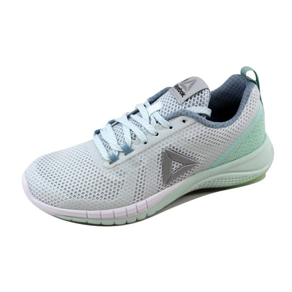 Reebok Women's Print Run 2.0 Blue/Grey-Mist-Green-White BD4544