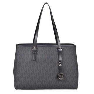 Michael Kors Large Signature Travel East West Tote Handbag in Black