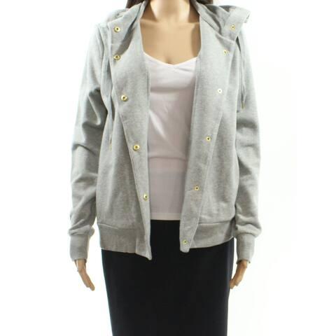 Lauren By Ralph Lauren Gray Womens Size Small S Snap-Front Cardigan
