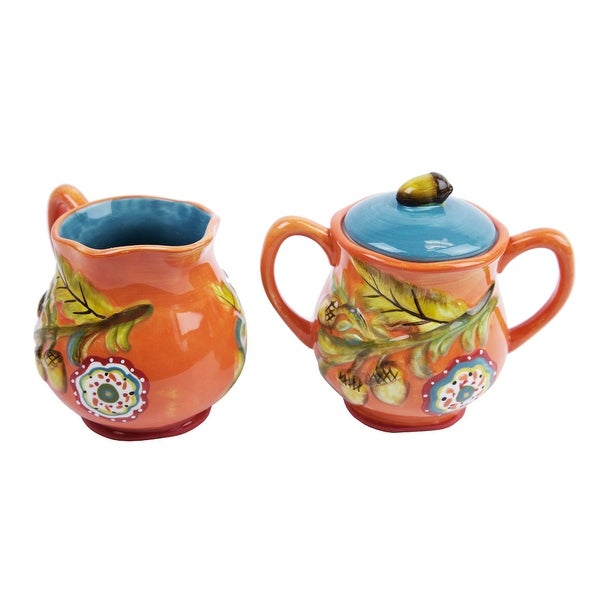 Cypress Home Harvest Blessings Sugar and Creamer Set