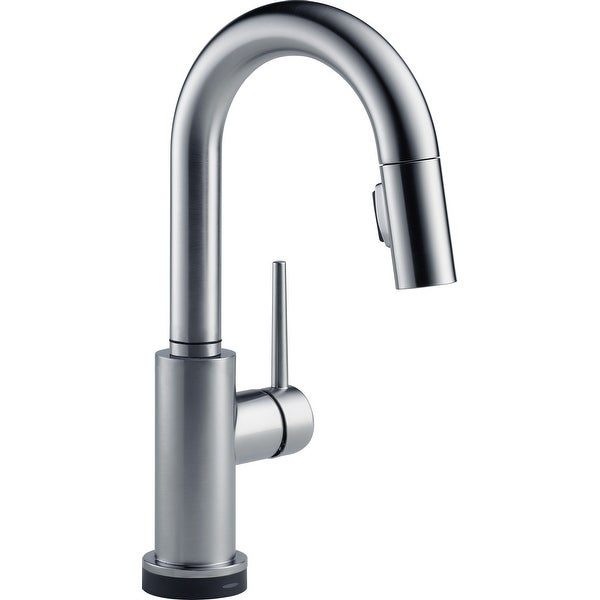 Delta 9959T-DST Trinsic Pull-Down Bar/Prep Faucet with On/Off Touch Activation, Magnetic Docking Spray Head, and Optional Base