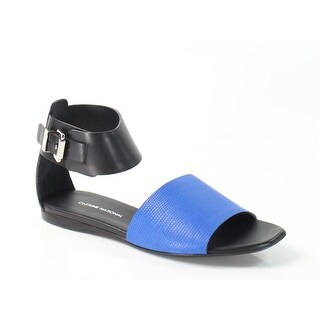 Costume National NEW Blue Elite 9.5M Ankle Strap Leather Sandals