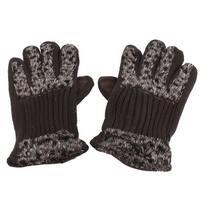 Pair Faux Fur Decor Full Finger Gloves Warmer for Ladies