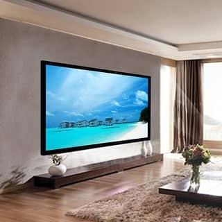 Costway 100 Aluminum Fixed Frame 169 Projector Screen Velvet Matte White Home