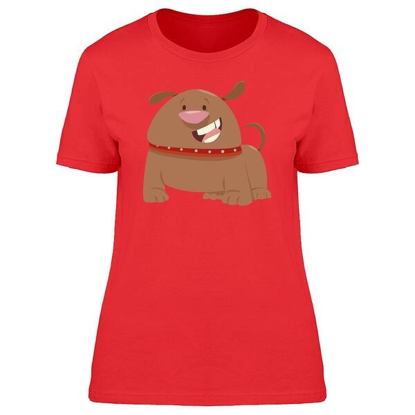 Shop Brown Happy Dog Cartoon Tee Women S Image By Shutterstock On Sale Free Shipping On Orders Over 45 Overstock 27955360
