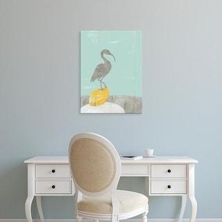 Easy Art Prints Jennifer Goldberger's 'Heron Collage II' Premium Canvas Art