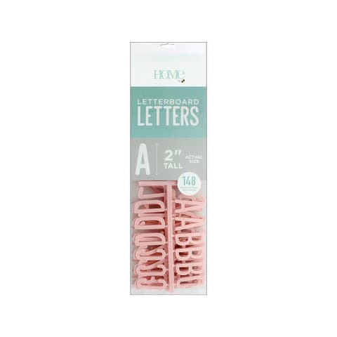 Lp-006-00008 diecuts letterboard letters 2 pink 148pc