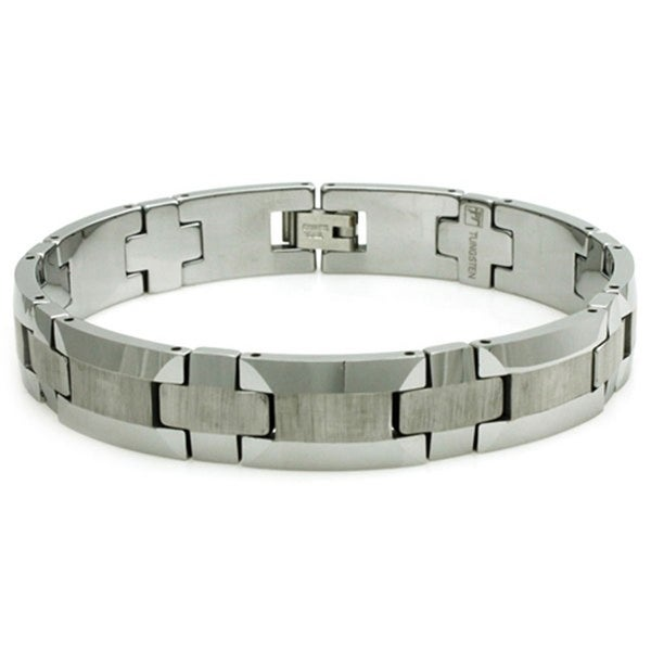 Tungsten Carbide Brush Finish Bracelet - 8.5 inches