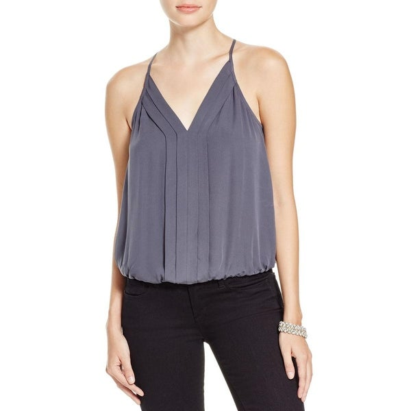 Joie Womens Euri Tank Top Silk Pleated
