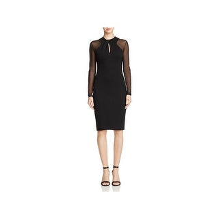 French Connection Womens Cocktail Dress Knit Mesh Inset