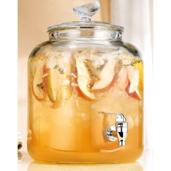 Palais Glassware High Quality 'Citron' Beverage Dispenser - 2.4 Gallon Capacity