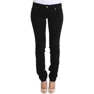 Galliano Galliano Black Slim Fit Cotton Stretch Denim Jeans - w26