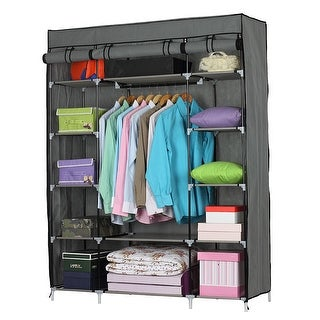 "Link to 5-Layer 12-Compartment Non-woven Fabric Wardrobe Portable Closet (52.4 x 18.1 x 67)"" Similar Items in Storage & Organization"
