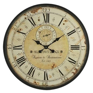 Aspire Home Accents 5464 Simona Round Wall Clock