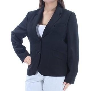 ANNE KLEIN Womens New 1171 Black Blazer Wear To Work Jacket 18 B+B