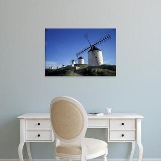 Easy Art Prints David Barnes's 'La Mancha Windmills' Premium Canvas Art