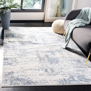 Link to Safavieh Amelia Modern & Contemporary Abstract Ivory/Blue Rug Similar Items in Transitional Rugs