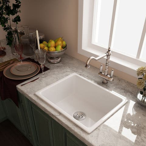 Eridanus Rio 24 inch Farmhouse Drop-in Kitchen Sink