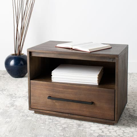 SAFAVIEH Couture Mallory 1-drawer/1-shelf Nightstand