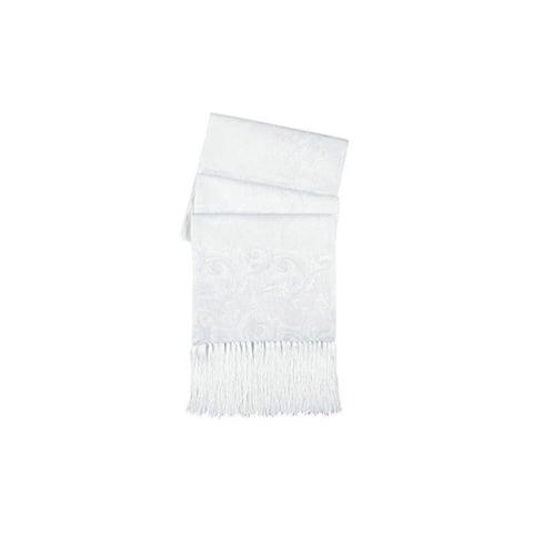 Cristoforo Cardi Men's White Silk Tapestry Formal Scarf One Size Fits