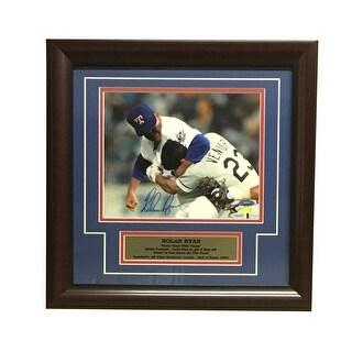 Nolan Ryan Autographed Rangers Signed Framed 8x10 Photo Punching Robin Ventura TRISTAR COA