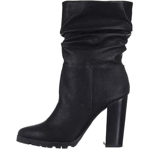 Katy Perry Women's The Raina Mid Calf Boot, Black, 5.5 M M US