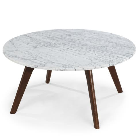 Poly and Bark Riley Marble Round Coffee Table
