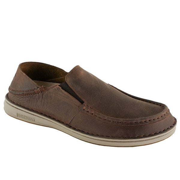 db13e2ada05d Shop Birkenstock Men's Duma Leather Shoes - Middle Brown - Free Shipping  Today - Overstock - 24257593
