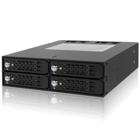 Icy Dock MB994SK-1B Icy Dock ToughArmor MB994SK-1B Drive Enclosure Internal - Matte Black - 4 x Total Bay - 4 x 2.5 Bay -