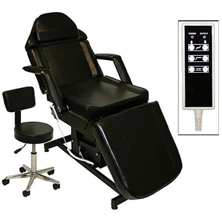 Brilliant Shop Lcl Beauty Black Fully Electric Adjustable Facial Bed Bralicious Painted Fabric Chair Ideas Braliciousco