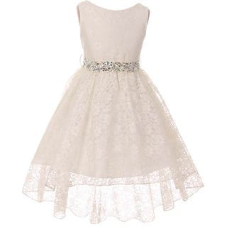 BNY Corner Flower Girl Dress Lace Hi-Low with Rhinestone Belt Ivory|https://ak1.ostkcdn.com/images/products/is/images/direct/273aaa24100fe58acffa08fa8c5f710ed819d0f1/BNY-Corner-Flower-Girl-Dress-Lace-Hi-Low-with-Rhinestone-Belt-Ivory.jpg?impolicy=medium
