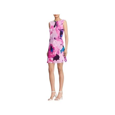 American Living Womens Sheath Dress Sleeveless Floral