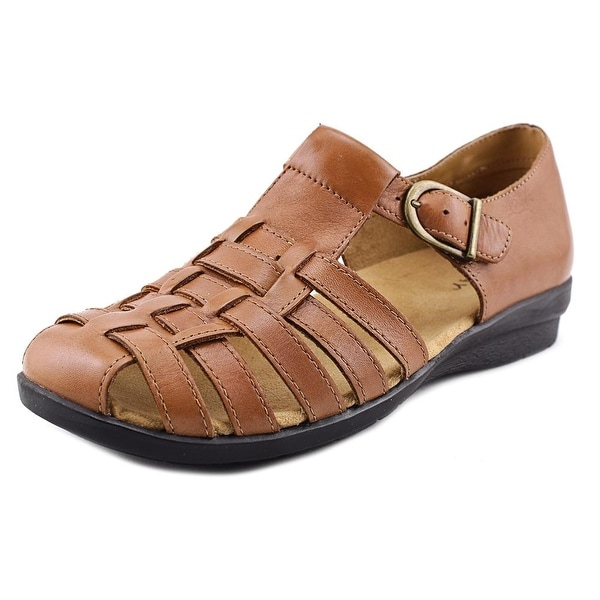Array Aruba Women N/S Round Toe Leather Tan Fisherman Sandal