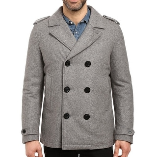 Nautica NEW Heather Gray Mens Size Small S Military Button Coat