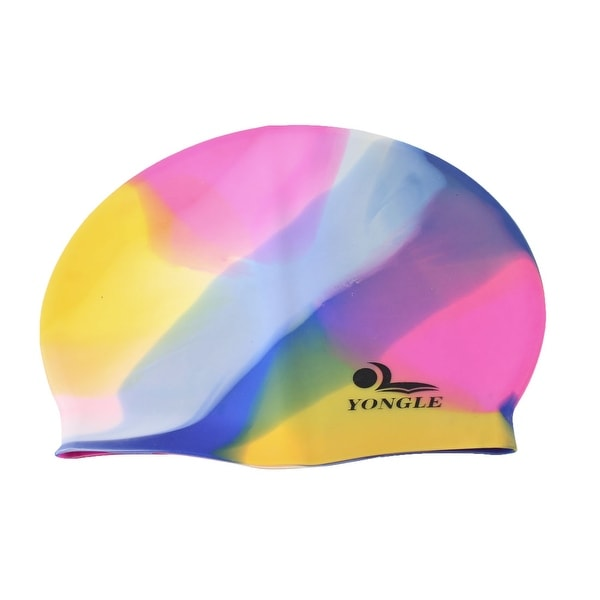 91870830258 Shop Unique Bargains Colorful Elastic Silicone Women Swimming Cap for Long Hair  Ear Protection - Free Shipping On Orders Over  45 - Overstock.com - 18433101