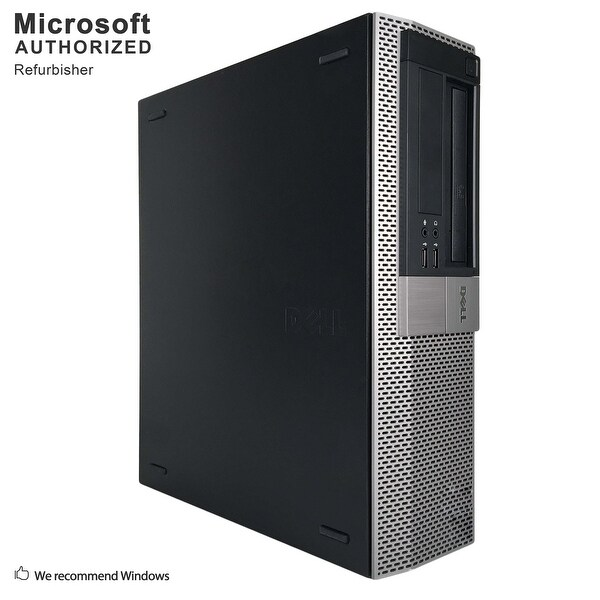 Dell OptiPlex GX980 Desktop Computer Intel Core I7 860 2.8G 16GB DDR3 1TB W10P64(EN/ES)-1 Year Warranty (Refurbished)-Black