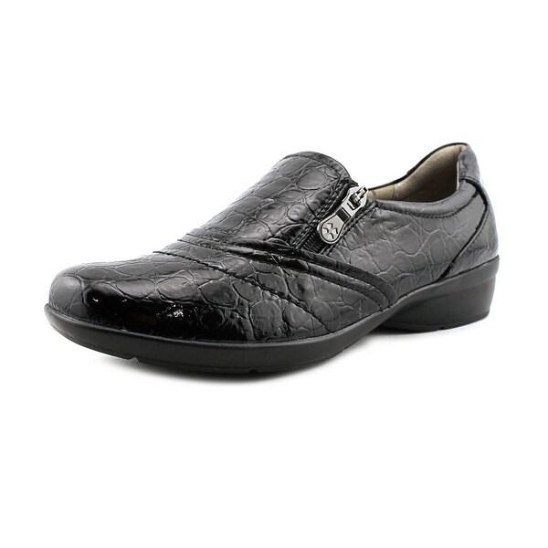 ee4d28d6989 Shop Naturalizer Clarissa Women Round Toe Leather Black Loafer ...