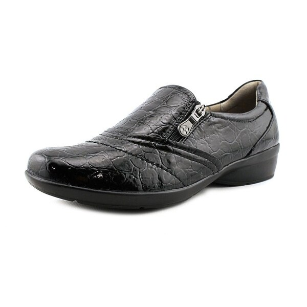 Naturalizer Clarissa Women W Round Toe Leather Black Loafer