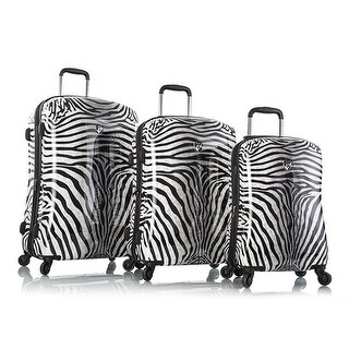 Zebra Equus Fashion Spinner Luggage, Zebra - 3 Piece per Set