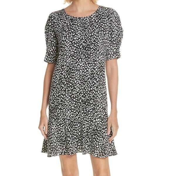 bd74efac0d Shop Joie Black White Womens Size Medium M Cheetah Print Shift Dress ...