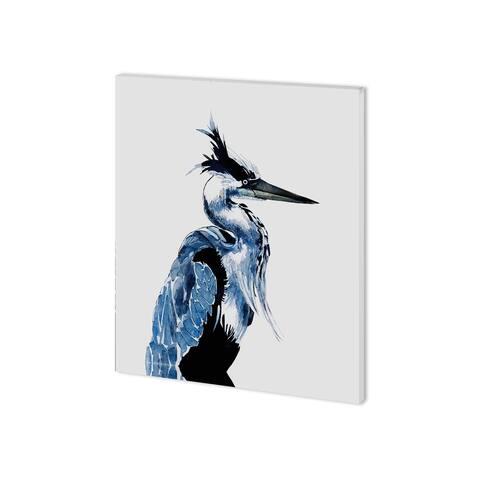 Mercana Coastal Blue Heron (28 x 35 ) Made to Order Canvas Art