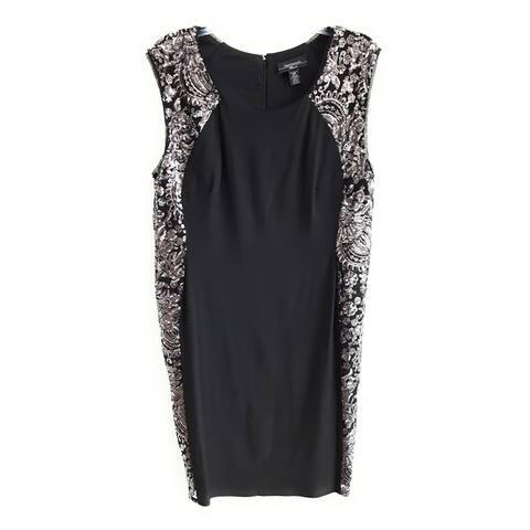 R & M Richards Women's Dress , Black,14W