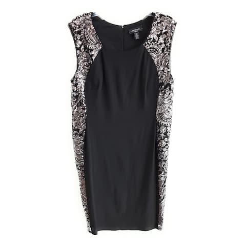 R & M Richards Women's Dress , Black,16W