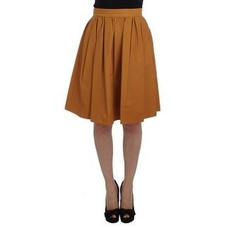 Dolce & Gabbana Dolce & Gabbana Orange Cotton Pleated Skirt