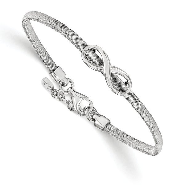 Italian Sterling Silver infinity with 1in ext. Bracelet - 7 inches